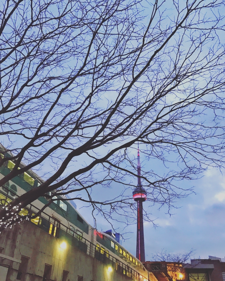 CN Tower from Union Station Bus Terminal